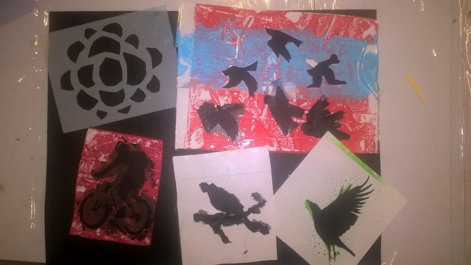 homemade bird stencils