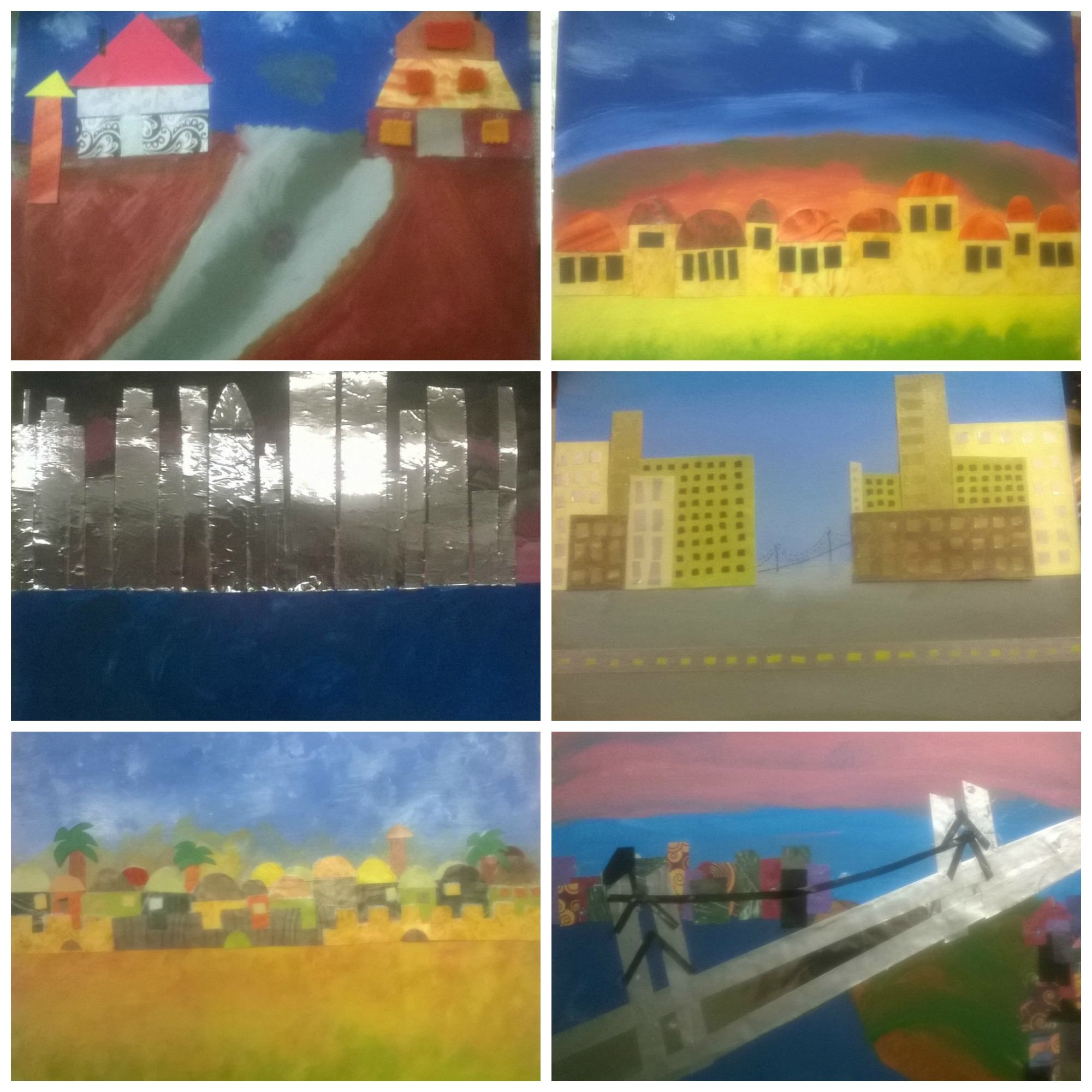 collage of landscape collages