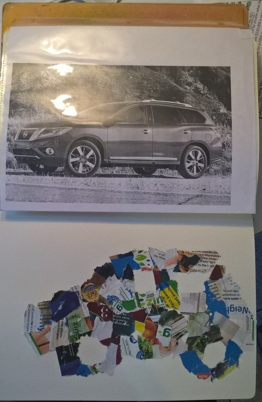 picture of car and collage in car shape
