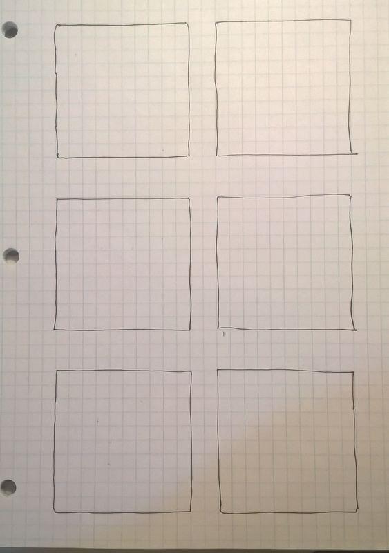 empty zentangle boxes