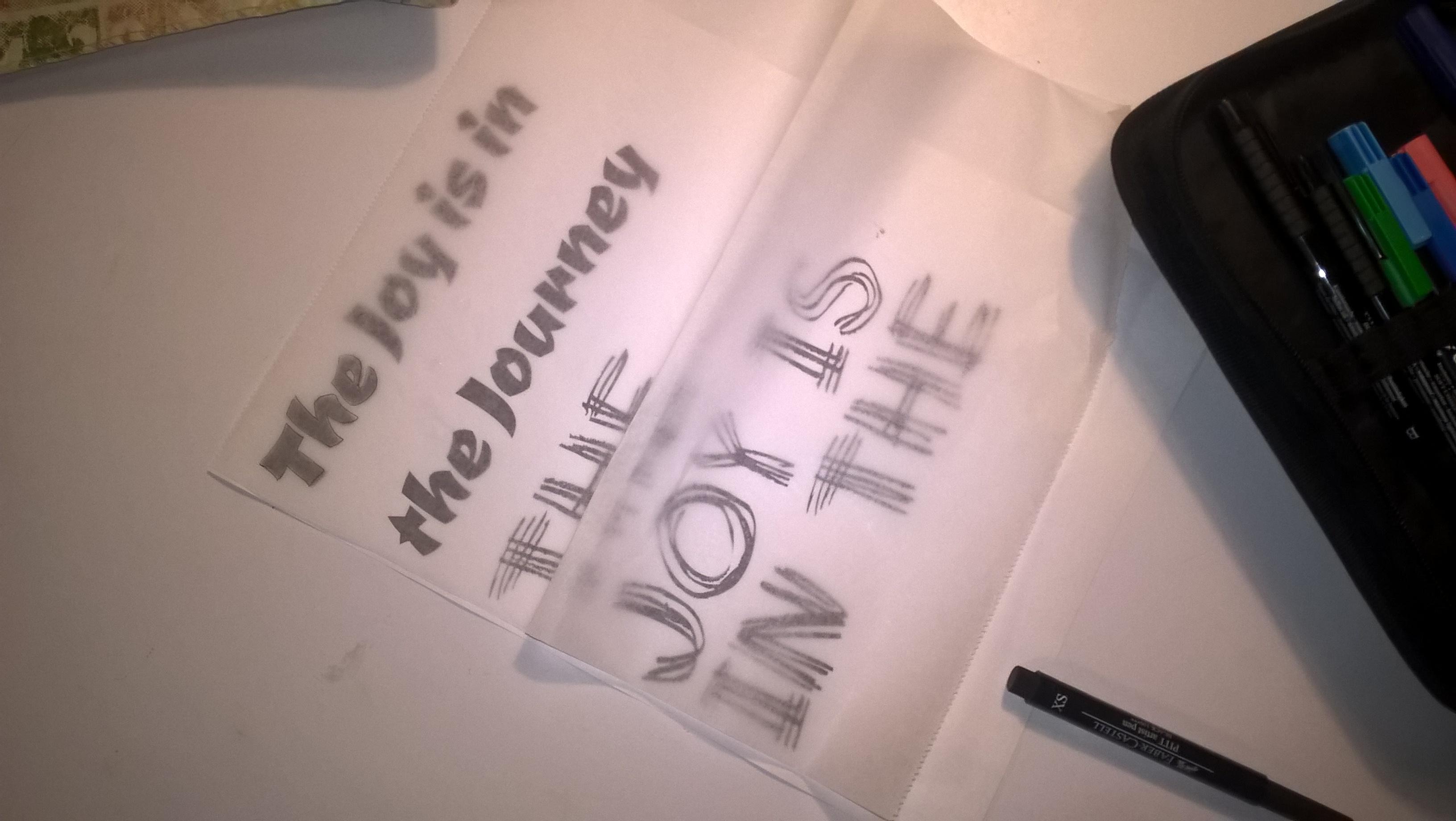 copying printed words through deli paper