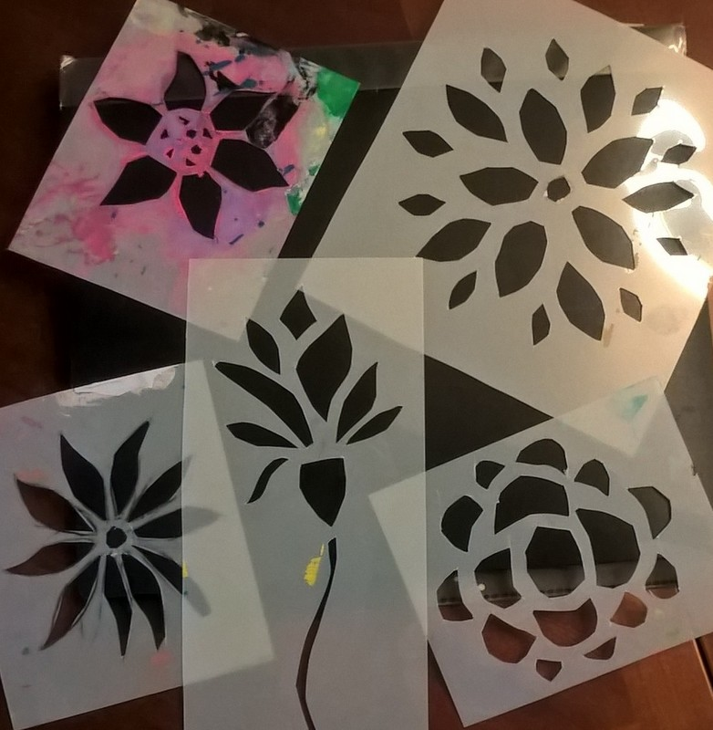 homemade plastic flower stencils