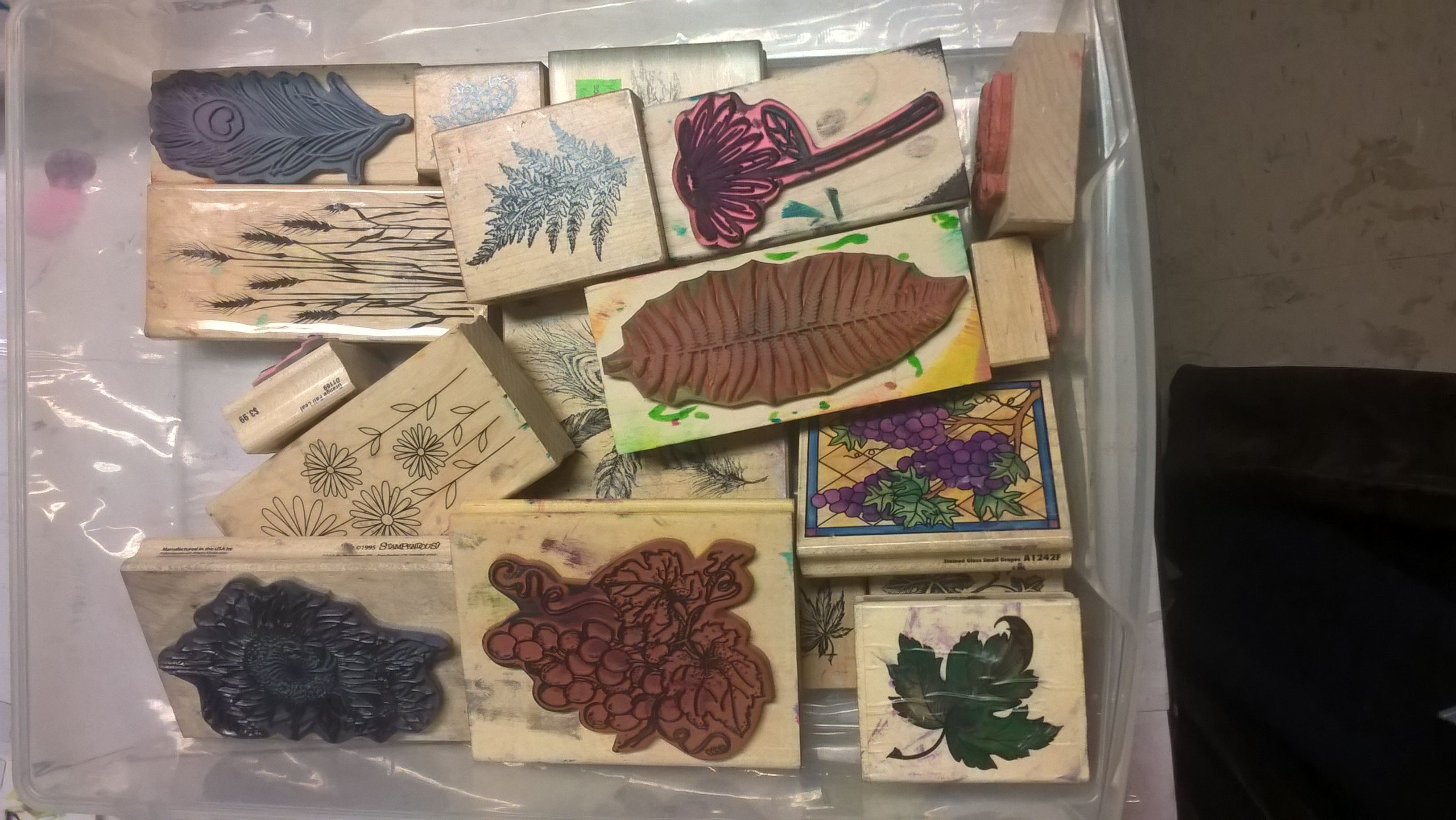 rubber stamps of flowers