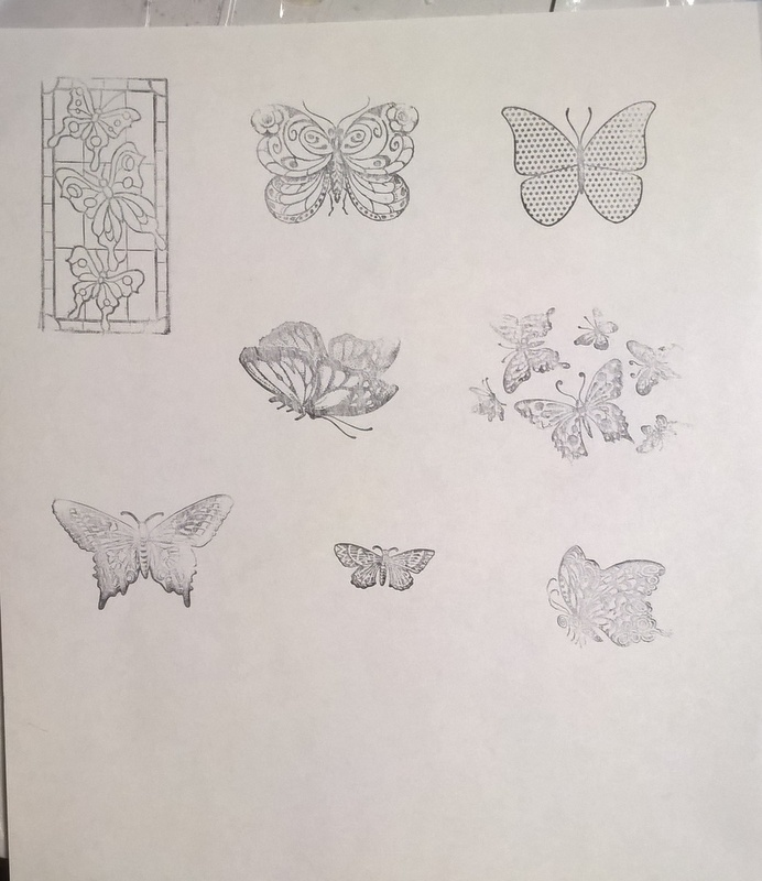 butterfly stamped images