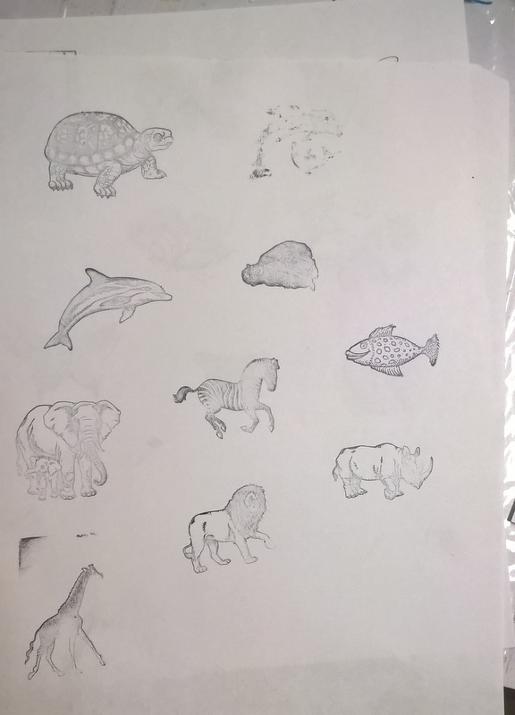animal stamped images