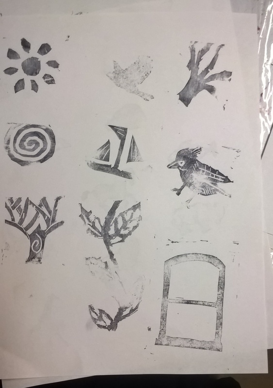 homemade stamped images