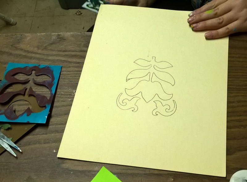 creating designs with stencils