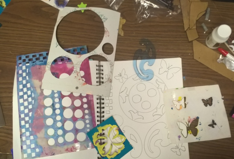 creating a coloring page with stencils and templates