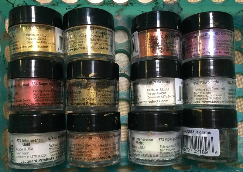 stacks of pearl ex pigment
