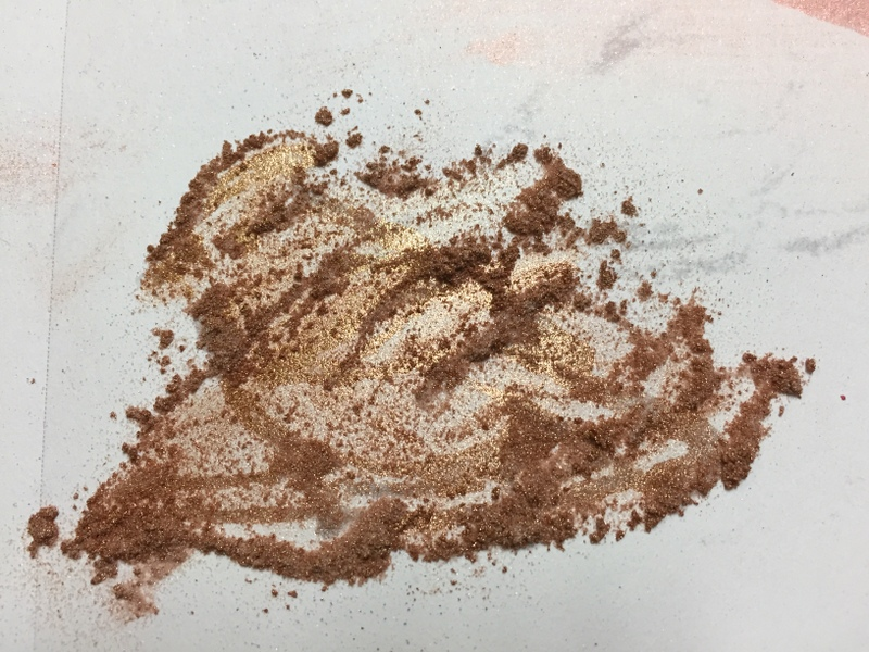 pearl ex powder on stamped bird image